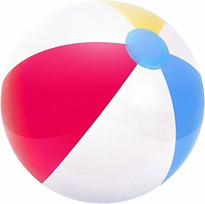 "New Inflatable Blowup Panel Beach Ball 16"" 20"" 24"" Holiday Party Swimming Fun"