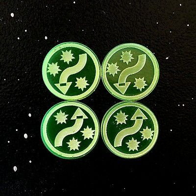 X-Wing Miniatures Game Acrylic Evade Token 4 -Pack