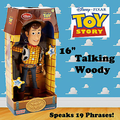 BRAND NEW Disney Toy Story Talking Woody Soft Toy Figure Doll Speaks 19 Phrases!