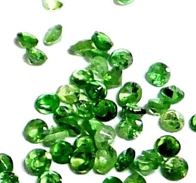 NATURAL TOP GREEN TSAVORITE GARNET LOOSE GEMSTONES (1.4mm / 5pcs) ROUND SHAPE
