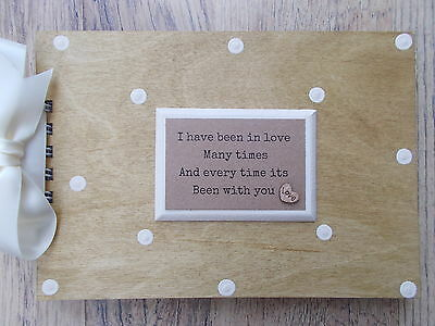 Personalised Love/romance/couple Wooden Scrapbook/photo Book /memories