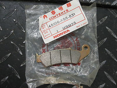 45106-ks6-831 HONDA NOS 1989 Cr 250 Cr 250 front brake pad