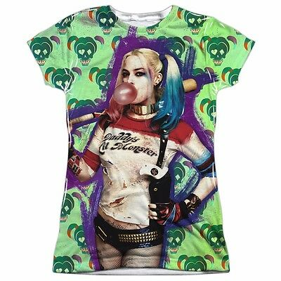 Suicide Squad Harley Quinn Bubble Sublimation Officially Licensed Junior Shirt