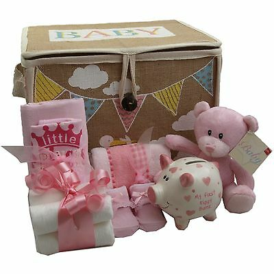 Baby gift basket/hamper girl nappy cake baby shower new baby/maternity gift
