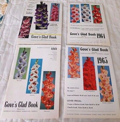 Vintage 1960's  Lot of 5 Gove's Glad Book Flower Catalogs- Burlington