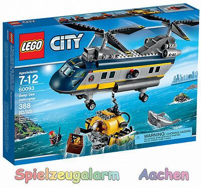 LEGO CITY 60093 Tiefsee Helikopter Deep Sea Helicopter L'hélicoptère de haute-me