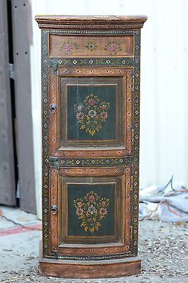 "Hand Painted Indian Cabinet Antique Look 48"" High Made In India"