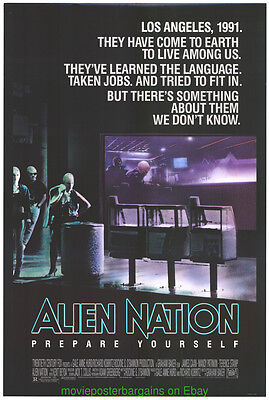ALIEN NATION MOVIE POSTER ORIGINAL 1988 ROLLED 27x40 JAMES CAAN Rare Rolled!!