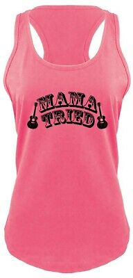 91de7a6b93ba8 Mama Tried Cute Ladies Tank Top Country Music Video Cowgirl Band Southern Z6