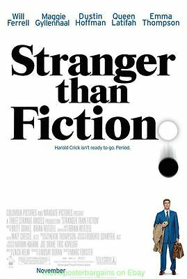 STRANGER THAN FICTION MOVIE POSTER Original DS 27x40 Final Style WILL FERRELL