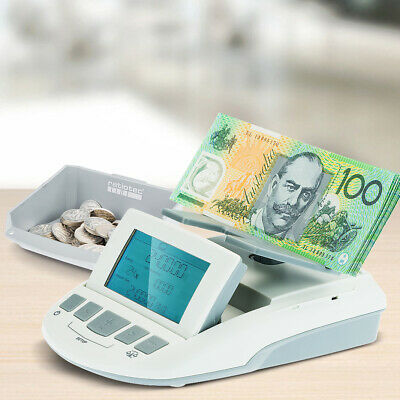 Digital Coin Note Sorter Money Counter Currency Scales Australian Portable