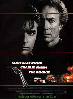 THE ROOKIE MOVIE POSTER Original SS 27x40 CLINT EASTWOOD CHARLIE SHEEN