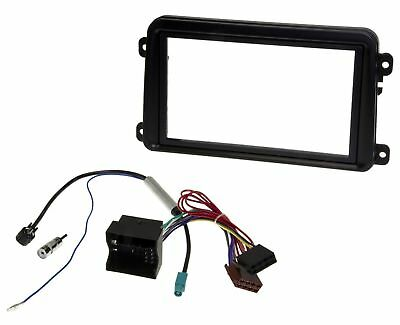 Double 2 DIN Radio Faceplate Frame Phantom MOST Fakra Adapter Cable for VW Skoda