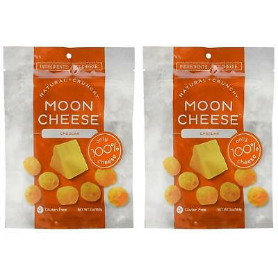 NEW Moon Cheese Crunchy Cheddar Snack 2PK Gluten-Free 100% Natural Protein Food