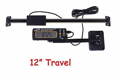 """Digital Readout DRO E Z View 12"""" 300 mm Preset w/ Articulating Remote Display"""