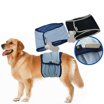 Puppy BELLY BAND Dog Diaper Male For SMALL / LARGE Breeds Reusable Pant XS/XL AA