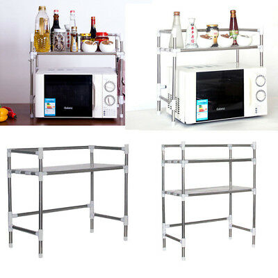 Home Kitchen Microwave Stand Baker's Rack Utility Storage Cart Workstation Shelf