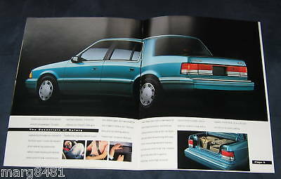 """1993 Plymouth Acclaim Sales Brochure, 12 pgs,11"""" X 8.5"""" Printed in Canada."""