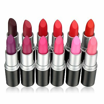2016HOT 12 Colors Waterproof Makeup Matte Lipstick Lip Gloss Beauty Long Lasting