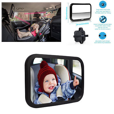 Car Seat Baby Mirror Adjustable Shatter-Proof Rear Facing Infant Seat Mirror