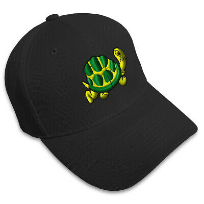 Yellow Turtle Kid Children Embroidery Embroidered Adjustable Hat Baseball Cap