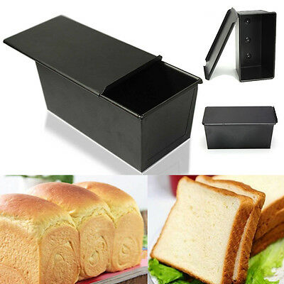 Nonstick Rectangle Bakeware Box Large Loaf Tin Kitchen Pastry Bread Cake Baking