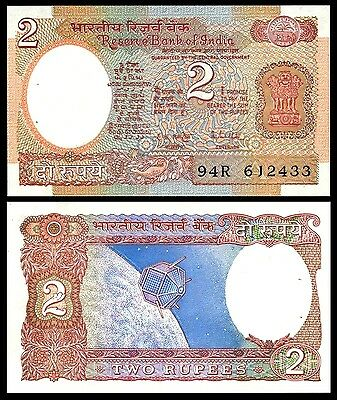 India 2 RUPEES Sign 85 Letter A ND 1976 P 79h UNC