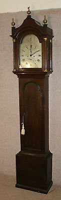 Oak Cabinet Silvered Dial 8 Day Grandfather Clock with Chime.1840 Thomas Watkins