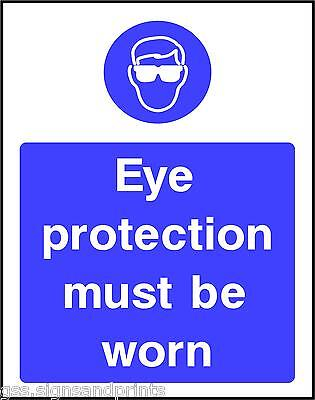 130x90MM EYE PROTECTION MUST BE WORN - MANDATORY PRINTED VINYL STICKER
