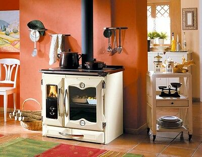 "Cast Iron Cook Stove ""Suprema Cream"" by La Nordica, 27K BTUs"