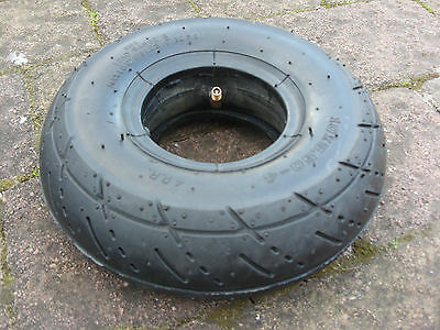 10 x 3.50 - 4 (ALSO FITS 3.00-4 AND 260 X 85 ) SCOOTER TYRE WITH TUBE. BRAND NEW