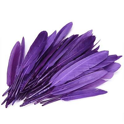 50x Beautiful Purple Goose Feather 4-6 Inch Craft Millinery Hats Fascinators