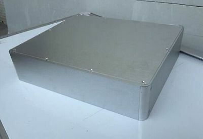 #3809 Silver Round corner Aluminum  case for amplifier preamp chassis 380x90x320