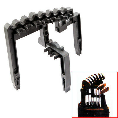 Golf 9 Iron Club ABS Shafts Holder Stacker Holds Bags Organizer Practice Tool