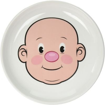 """MR OR MS FOOD FACE Plate by Fred 8.5"""" Ceramic White NEW"""