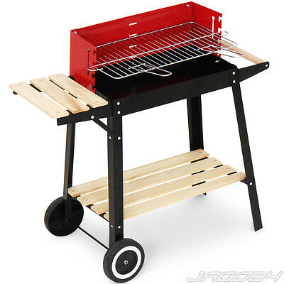 Barbecue chariot grill mobile BBQ charbon bois camping grillades cuisson jardin