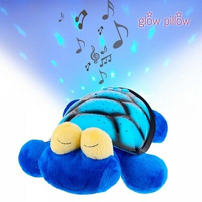 PELUCHE VEILLEUSE PROJECTEUR LUMINESCENT LED MUSICALE TORTUE Glow Pillow