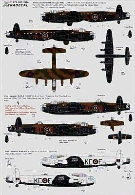 Xtradecal X72093 1/72 617 (Dambusters) Squadron 1943-2008 Model Decals