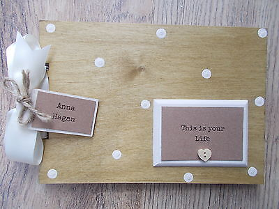 Personalised This Is Your Life Wooden Scrapbook/photo Book /memories