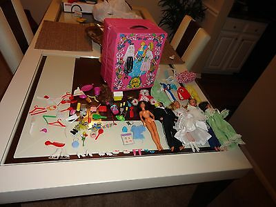 Barbie & Ken Vintage 1968 Collection/carring Case/accesories/dolls Huge Lot