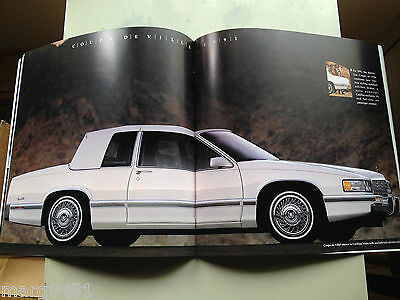 "'91 Cadillac Sales Brochure,85 pgs, 11"" high X 11"" wide, 13 large car pictures"