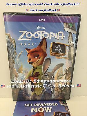 Zootopia 2016 DVD 100% AUTHENTIC (BEWARE OF CHEAP FAKES SOLD W/O DISNEY REWARDS)