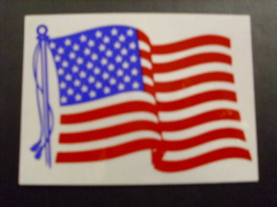 "2"" American Flying United State Flag Reflective Decal"