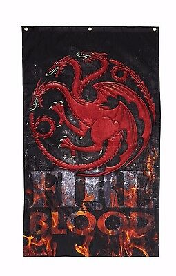 Game Of Thrones Targaryen Fire And Blood Banner Houses Of Westeros Winterfell
