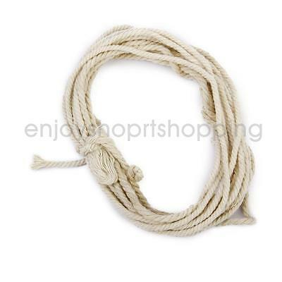 Cotton Soft Braided Sash Rope Piping Cord DIY Crafts Natural Beige 30M