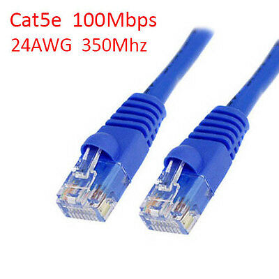 50 Ft Cat5e UTP RJ45 8P8C 24AWG 350Mhz 100Mbps LAN Ethernet Network Patch Cable