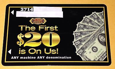 """Casino Royale Players Slot Card """"first $20 Is On Us"""" Collectible Las Vegas"""