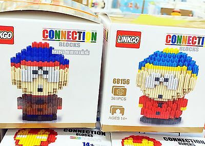 South Park DIY Figure 2 Sets Stan Cartman Action Figures Toy Kidrobot Nanoblocks