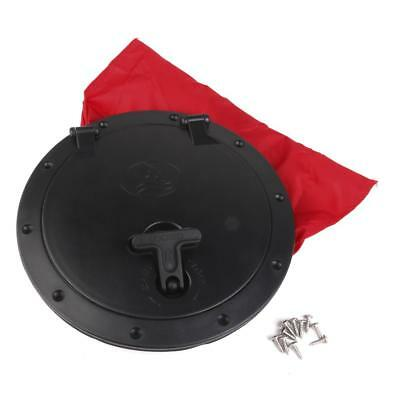 """8"""" Large Marine Boat Kayak Hatch Cover Pull out Deck Plate & Bag Accessories"""
