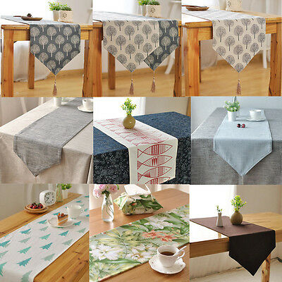 10 Colors Table Runner Home Wedding Party Banquet Decoration Cotton Table Cloth